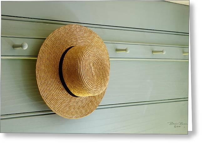 Amish Hat Greeting Card
