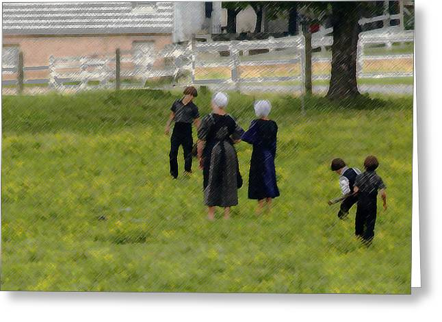Greeting Card featuring the photograph Amish Life by Raymond Earley