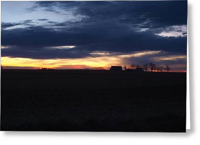 Amish Sunrise Greeting Card by Joshua House