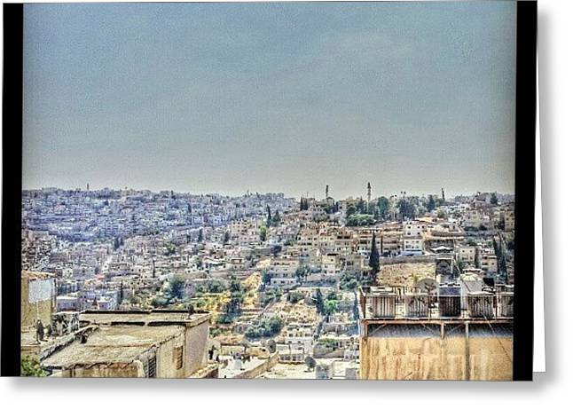 Amman Down Town, #downtown #city Greeting Card