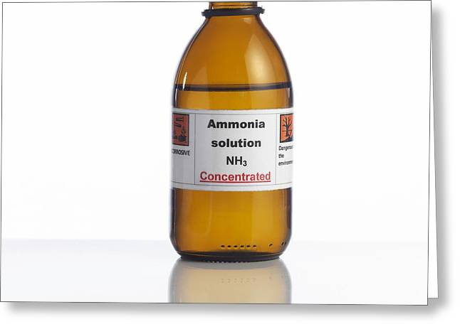 Ammonia Solution, Laboratory Bottle Greeting Card by