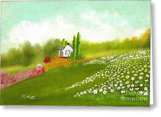 Among Daisies Greeting Card