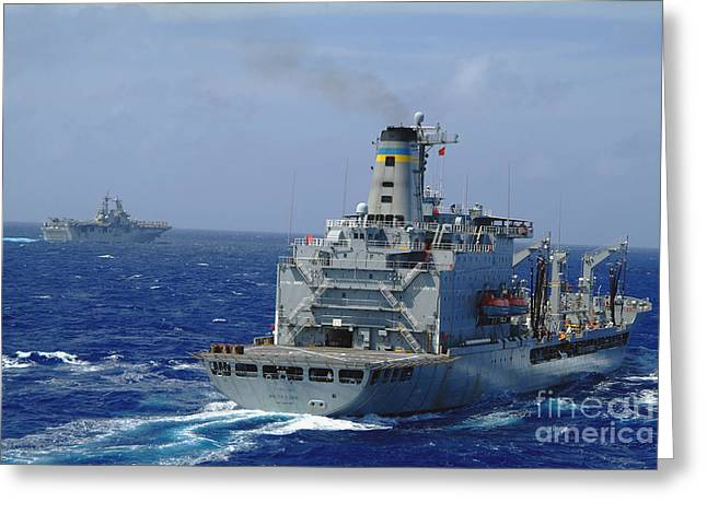 Amphibious Assault Ship Uss Essex Greeting Card by Stocktrek Images