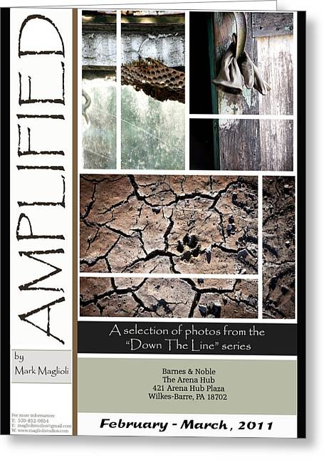Amplified Poster Greeting Card by Maglioli Studios