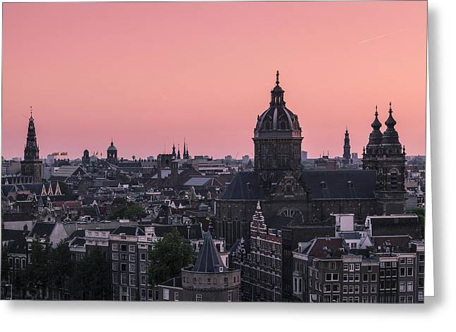 Amsterdam 02 Greeting Card by Tom Uhlenberg