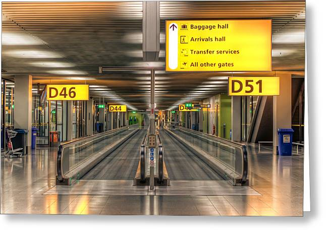 Greeting Card featuring the photograph Amsterdam Airport by Anna Rumiantseva