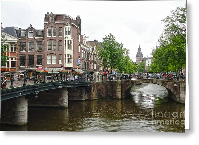 Amsterdam Bridge - 02 Greeting Card by Gregory Dyer