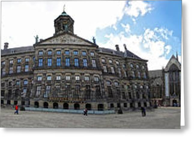 Amsterdam - Dam Square - 02 Greeting Card by Gregory Dyer