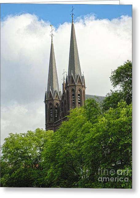 Amsterdam De Krijtberg Church Greeting Card by Gregory Dyer