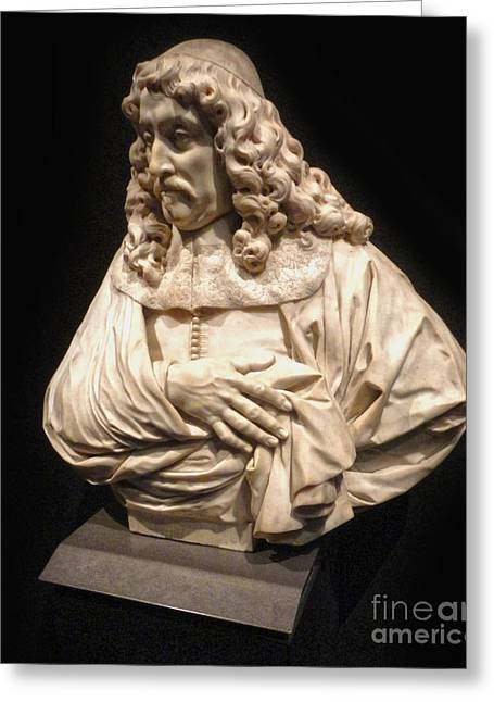 Amsterdam Rijksmuseum Classic Bust - 01 Greeting Card by Gregory Dyer