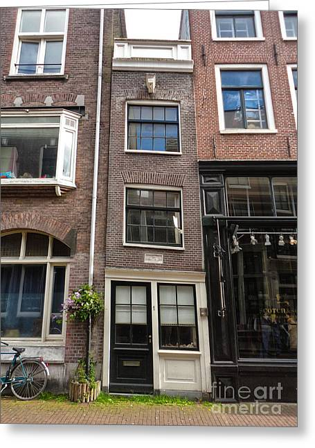 Amsterdam Skinny House Greeting Card by Gregory Dyer