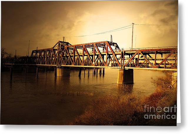 Amtrak California Gold Usa Greeting Card by Wingsdomain Art and Photography