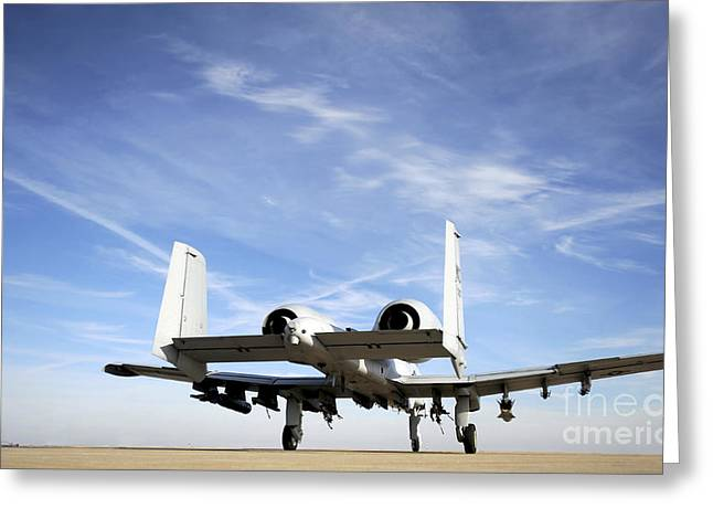 An A-10 Thunderbolt II Taxies Greeting Card