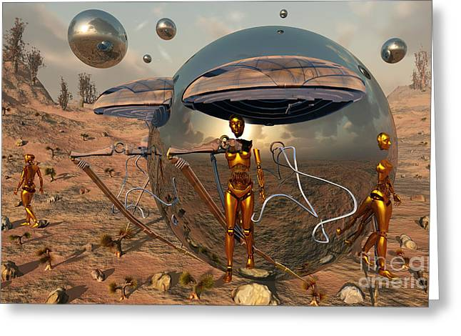 An Advanced Civilization Uses Time Greeting Card by Mark Stevenson