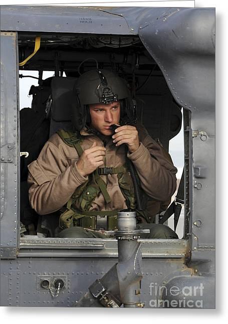 An Aerial Gunner Makes Final Greeting Card by Stocktrek Images