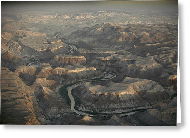 An Aerial View Of Big Bend National Greeting Card by Gordon Gahan