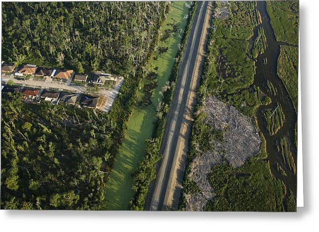 An Aerial View Of New Construction Greeting Card by Tyrone Turner