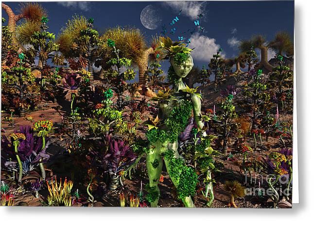 An Alien Being Blending Greeting Card by Mark Stevenson