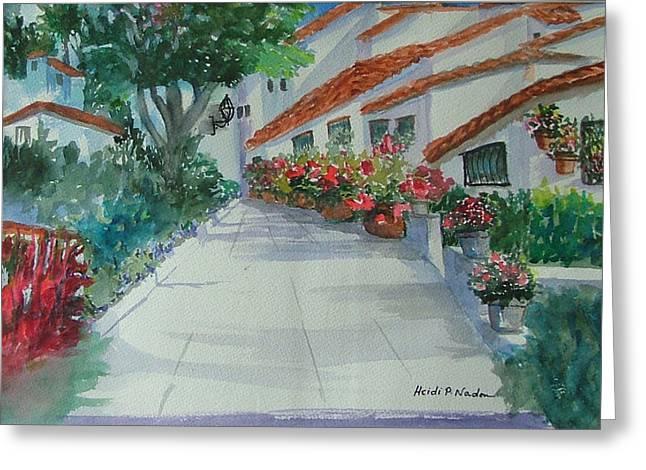 An Andalucian Street Greeting Card by Heidi Patricio-Nadon