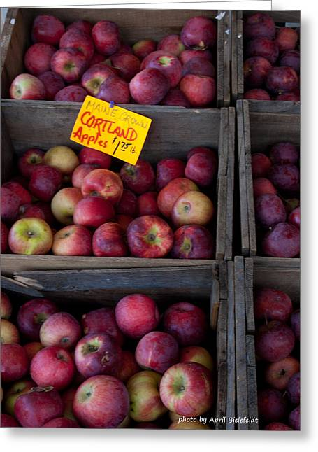 An Apple A Day Greeting Card by April Bielefeldt