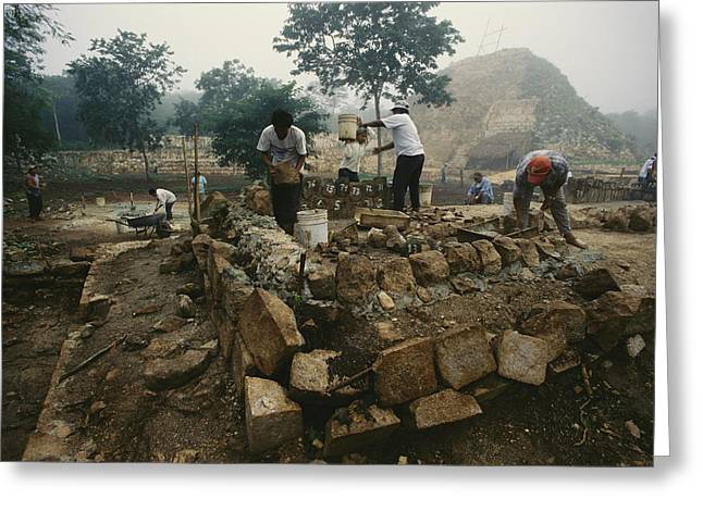 An Archaeological Team Works Greeting Card