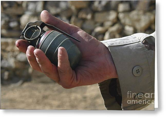 An Arges Type Hg-84 Fragmentation Greeting Card by Stocktrek Images