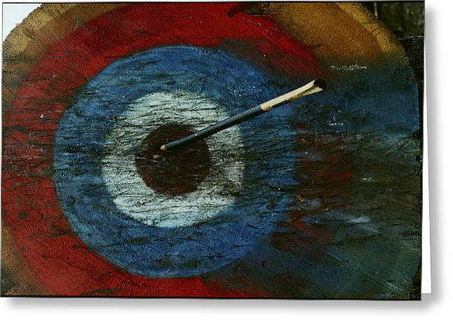 An Arrow Hit The Bullseye Greeting Card by Sam Abell