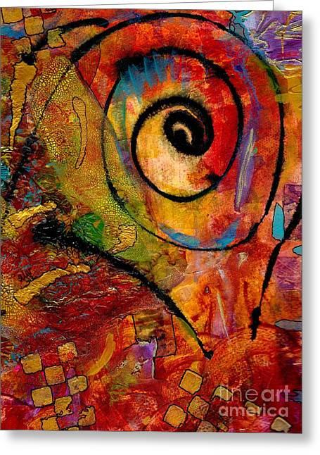 An Artist In Wonderland Greeting Card