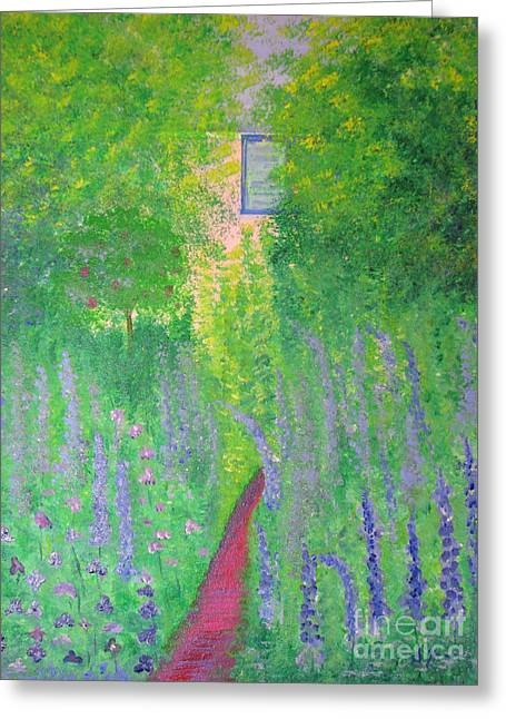 An Artist's Cottage Greeting Card