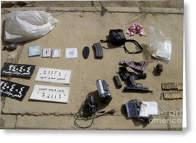 An Assortment Of Improvised Explosive Greeting Card by Stocktrek Images