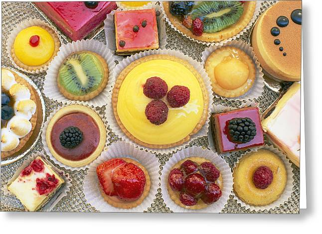 An Assortment Of Pastries On A Table Greeting Card