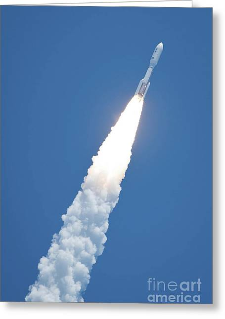 An Atlast V Rocket Carrying The Juno Greeting Card by Stocktrek Images