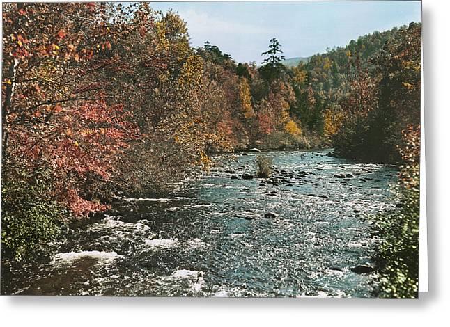 An Autumn Scene Along Little River Greeting Card by J. Baylor Roberts