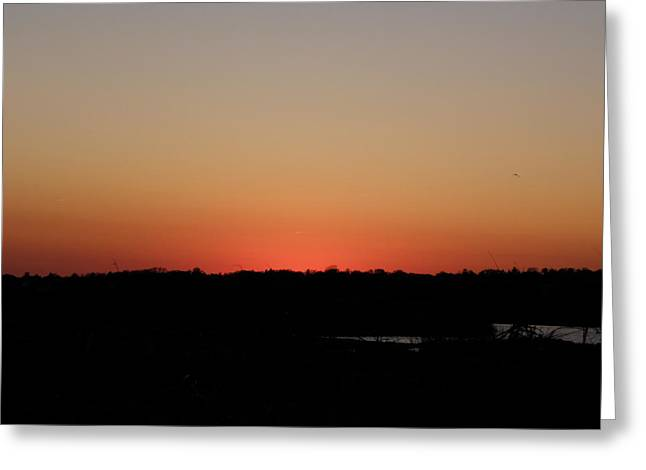 An Autumn Sunset Greeting Card by Kim Galluzzo Wozniak