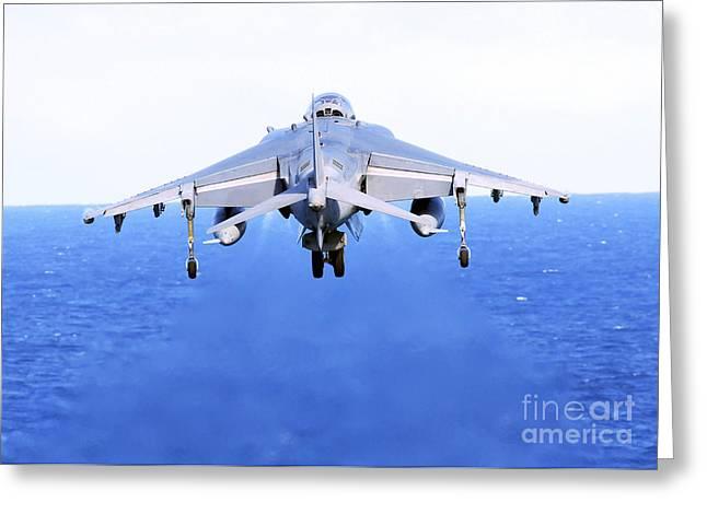 An Av-8b Harrier Jet Launches Greeting Card by Stocktrek Images