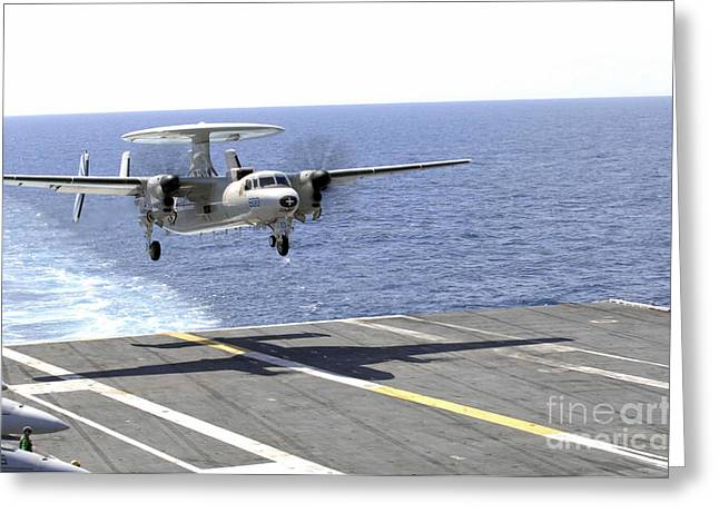 An E-2c Hawkeye Makes Its Approach Greeting Card