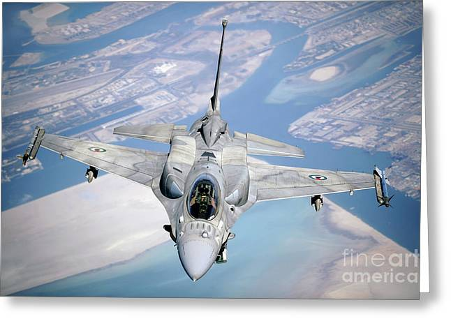 An Emirati F-16 Conducts A Training Greeting Card by Stocktrek Images