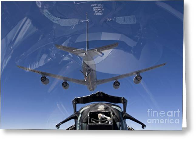An F-15 Eagle Pulls Into Position Greeting Card by HIGH-G Productions