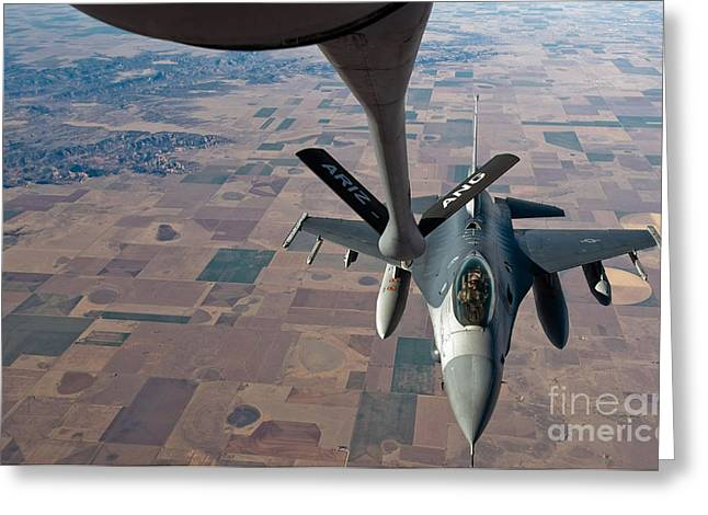 An F-16 Fighting Falcon Moves Greeting Card by Stocktrek Images