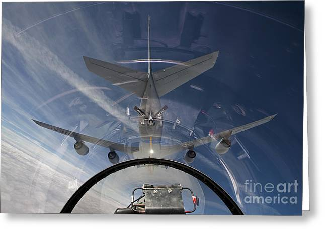 An F-16 Flies In The Pre-contact Greeting Card by HIGH-G Productions