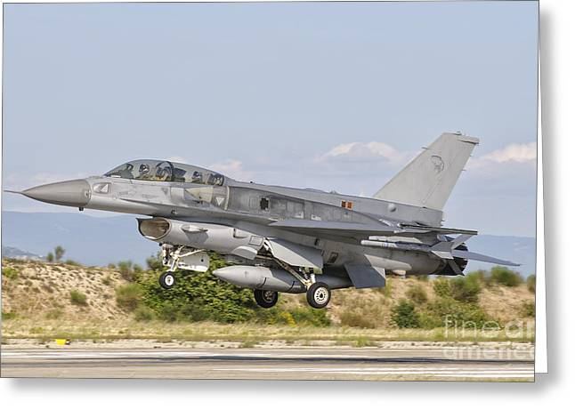 An F-16d Of The Royal Singapore Air Greeting Card