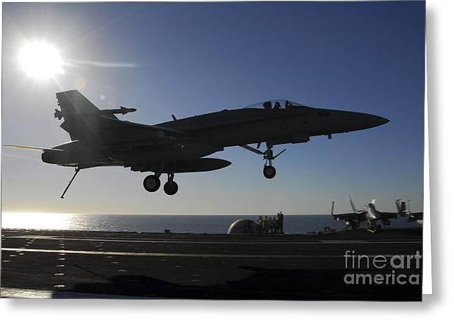 An Fa-18 Hornet Prepares To Make An Greeting Card