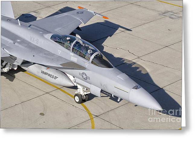 An Fa-18 Super Hornet Of The U.s. Navy Greeting Card by Giovanni Colla