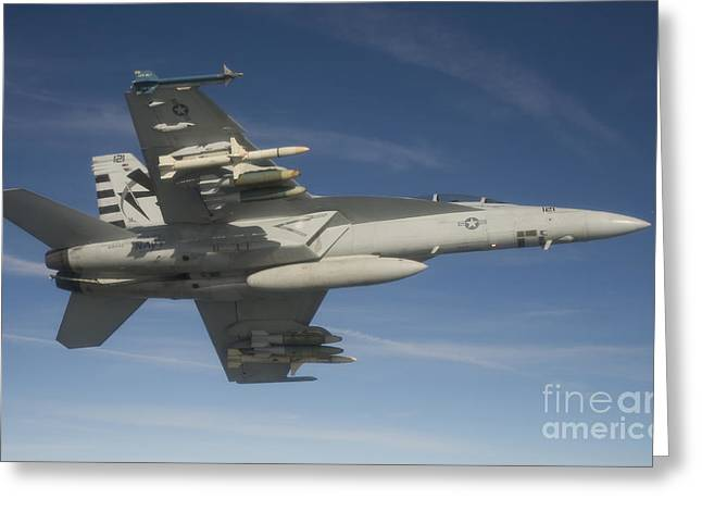 An Fa-18f Super Hornet Armed With An Greeting Card by Stocktrek Images