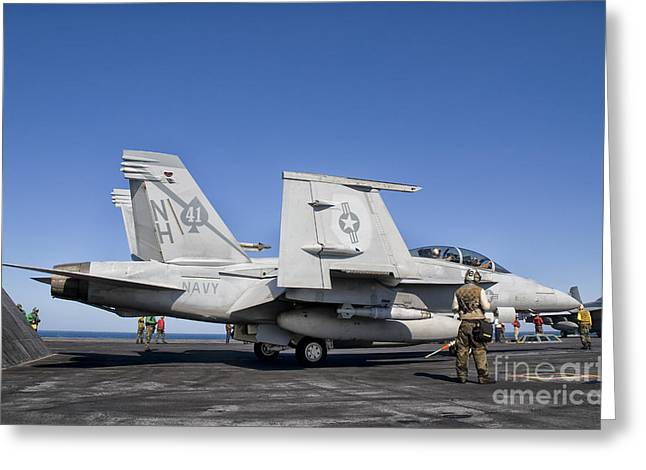 An Fa-18f Super Hornet Moves Greeting Card