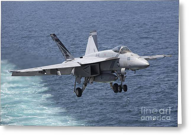 An Fa-18f Super Hornet Takes Greeting Card by Gert Kromhout