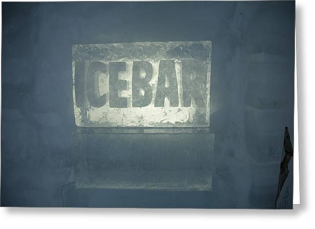 An Igloo Bar Constructed On Top Greeting Card