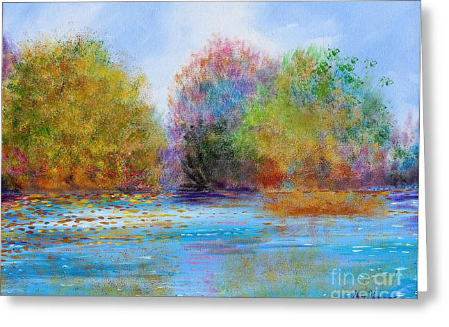 Greeting Card featuring the painting An Impressionist's Symphony by Stacey Zimmerman