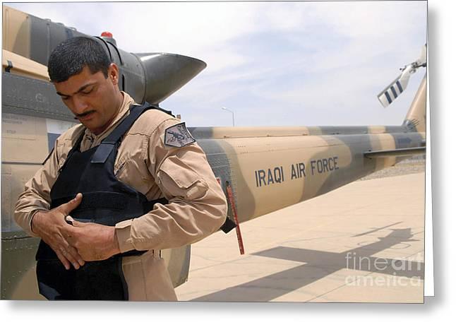 An Iraqi Air Force Aerial Gunner Greeting Card by Stocktrek Images