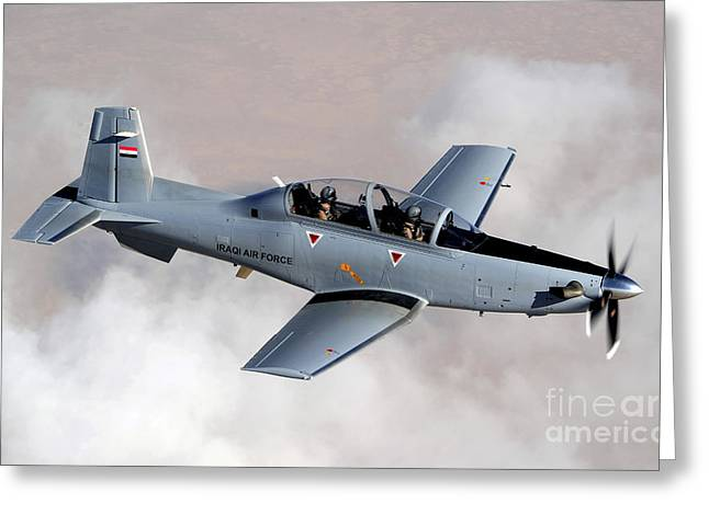 An Iraqi Air Force T-6 Texan Trainer Greeting Card by Stocktrek Images
